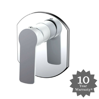 London Wall Mixer White & Chrome