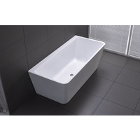 Florence Back To Wall Bathtub White