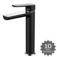 Vienna High Basin Mixer Black & Chrome