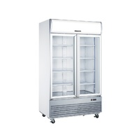 Heller Showcase Freezer 1000 Litres 2 Door